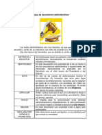 Tipos de Documentos Administrativos