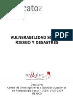 Vulnerabilidad Social, Riesgo y Desastres