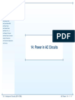 power calculations in AC circuits