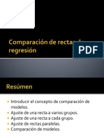 Comparacion de Rectas de Regresion