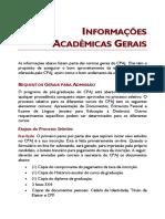 INFORMAÇÕES ACADÊMICAS GERAIS