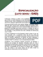 ESPECIALIZAÇÃO (LATO SENSU - EAD)