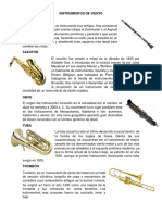 Instrumentos de Viento, Percusión, Madera Etc