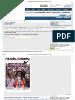 La Portada Del Último Número de _Mundo Obrero_ y La Deriva Progre Del PCE_IU