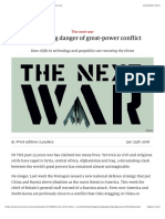 The Growing Danger of Great-power Conflict - The Next War