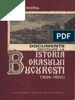 Documente Privitoare La Istoria Orasului Bucuresti (1634-1800)
