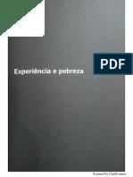 Experiência e Pobreza - W. Benjamin