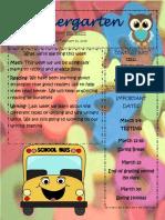 newsletter kindergarten