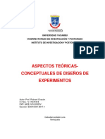 Aspectos Teóricas-conceptuales de Diseños de Experimentos