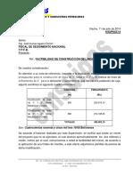 Carta a Ypfb Por Laja