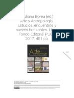 Giuliana Borea (ed.) Arte y Antropología.
