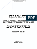 Dovich, Robert a.-quality Engineering Statistics-American Society for Quality (ASQ) (1992)