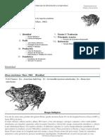 FPrograma de Información de Especies Acuáticas - Rana Catesbeiana (Shaw, 1862)