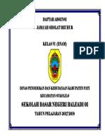 Daftar Absensi Jamaah