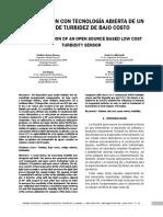 CONSTRUCCION CON TECNOLOGÍA ABIERTA DE UN SENSOR DE TURBIDEZ DE BAJO COSTO.pdf