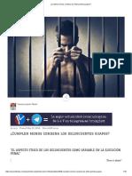 ¿Cumplen Menos Condena Los Delincuentes Guapos