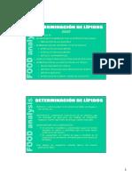 Determinación Analítica de Lípidos
