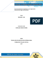 Evidencia 1 Informe Documentacion Requerida en Una Negociacion Internacional Segun Normatividad