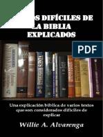 Willie a. Alvarenga - Textos Difíciles de La Biblia Explicados
