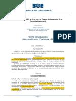 Estatut d'Autonomia de La Comunitat Valenciana (BOE-A-1982-17235-Consolidado)
