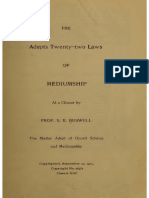 1904 Buswell Adepts Twenty-two Laws of Mediumship