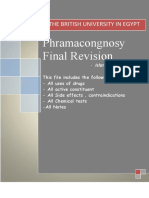 Pharmacognosy I Final Revision