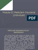 7f3d3Module-III Mediclaim Insurance Individual)