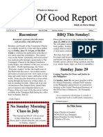 June 20, 2008 Community Church of Mill Valley Newsletter