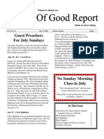 July 11, 2008 Community Church of Mill Valley Newsletter