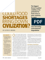 Could Food Shortages Bring Down Civilization'
