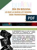 Nueva Ley MInera en Bolivia