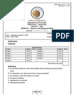 AK - BMTH210 - Final Exam - Fall 2017-2018 - Version A