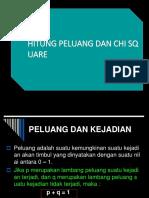 Hitung Peluang Dan Chi Square(1)