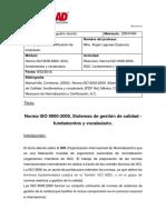 Norma ISO 90002000, SGC, Fundamentos y Vocabulario