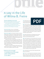A Day in the Life of Wilma B Freire