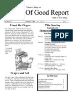 September 11, 2009 Community Church of Mill Valley Newsletter