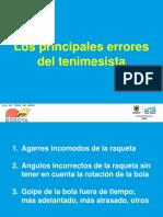 6 Principales Errores Del Tenimesista PDF Angelo