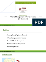 Waste Management in the Ivory Coast