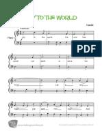 Joy to the World Piano