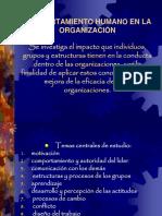 Comportamiento Humano en La Organizacion