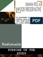 Banana Peel as Wood Preservative 70