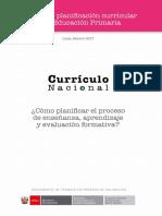 Planificación Curricular Primaria