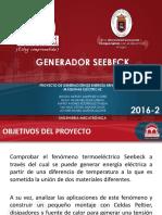 Proyecto Celdas Peltier - Generador Seebeck.