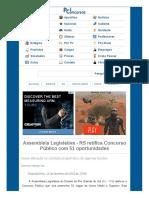 Www Pciconcursos Com Br Noticias Assembleia Legislativa Rs Retifica Concurso Publico Com 51 Oportunidades