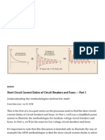 Short Circuit Current Duties of Circuit Breakers and Fuses Part 1 ECM