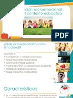 Educacion Socioemocional en El Contexto Educativo