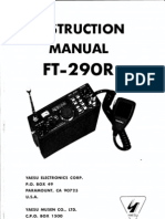 Yaesu FT-290R Instruction Manual