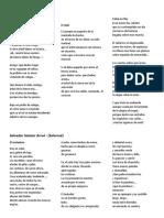 3 Poemas de 4 Poetas