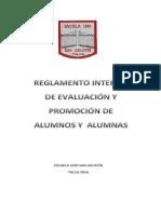 Reglamento de Evaluacion Escuela Uno San Agustin