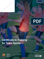 BARCA Universitas - Certificate in Training for Team Sports